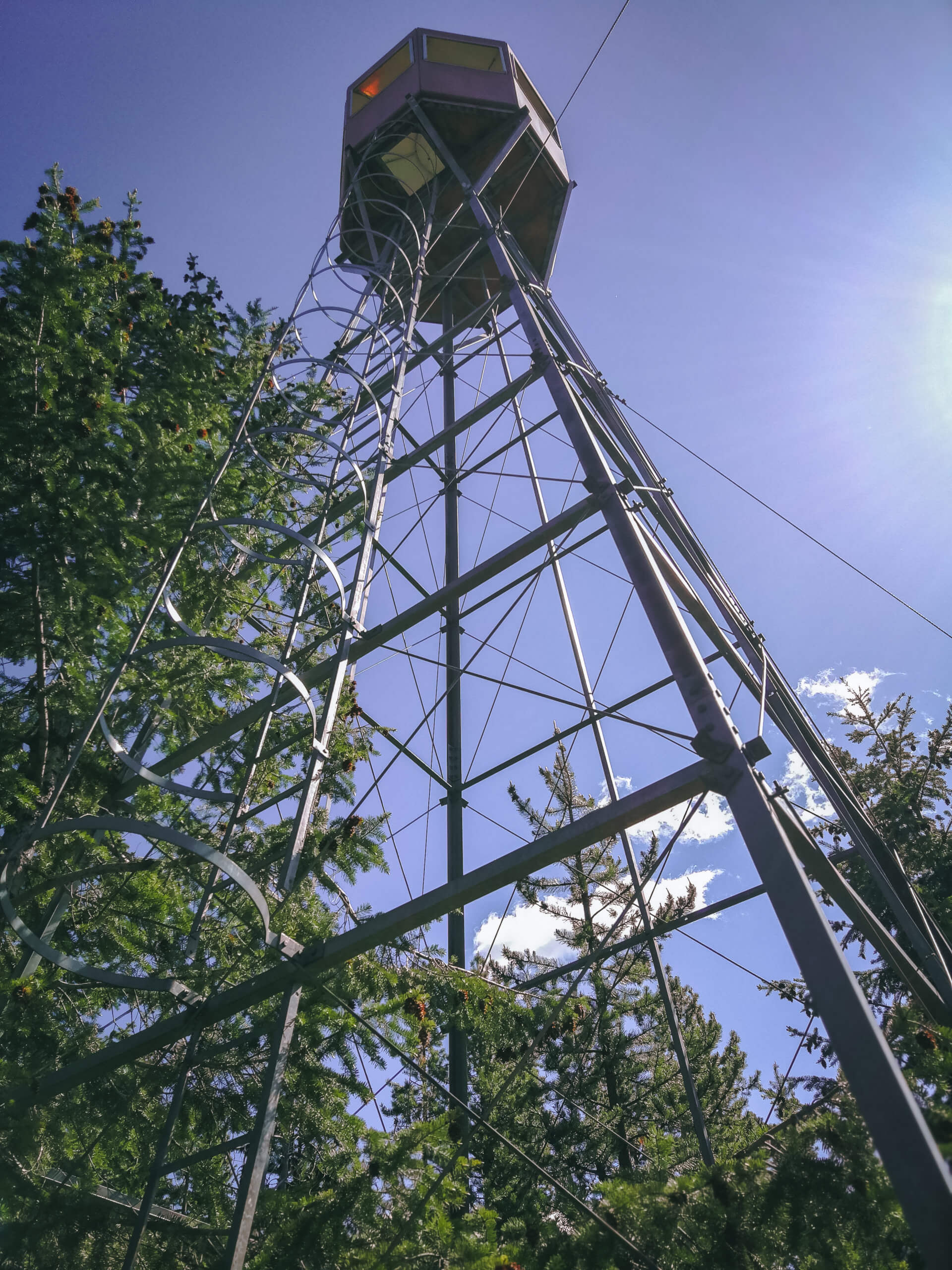 lookout tower des Mount Hunters