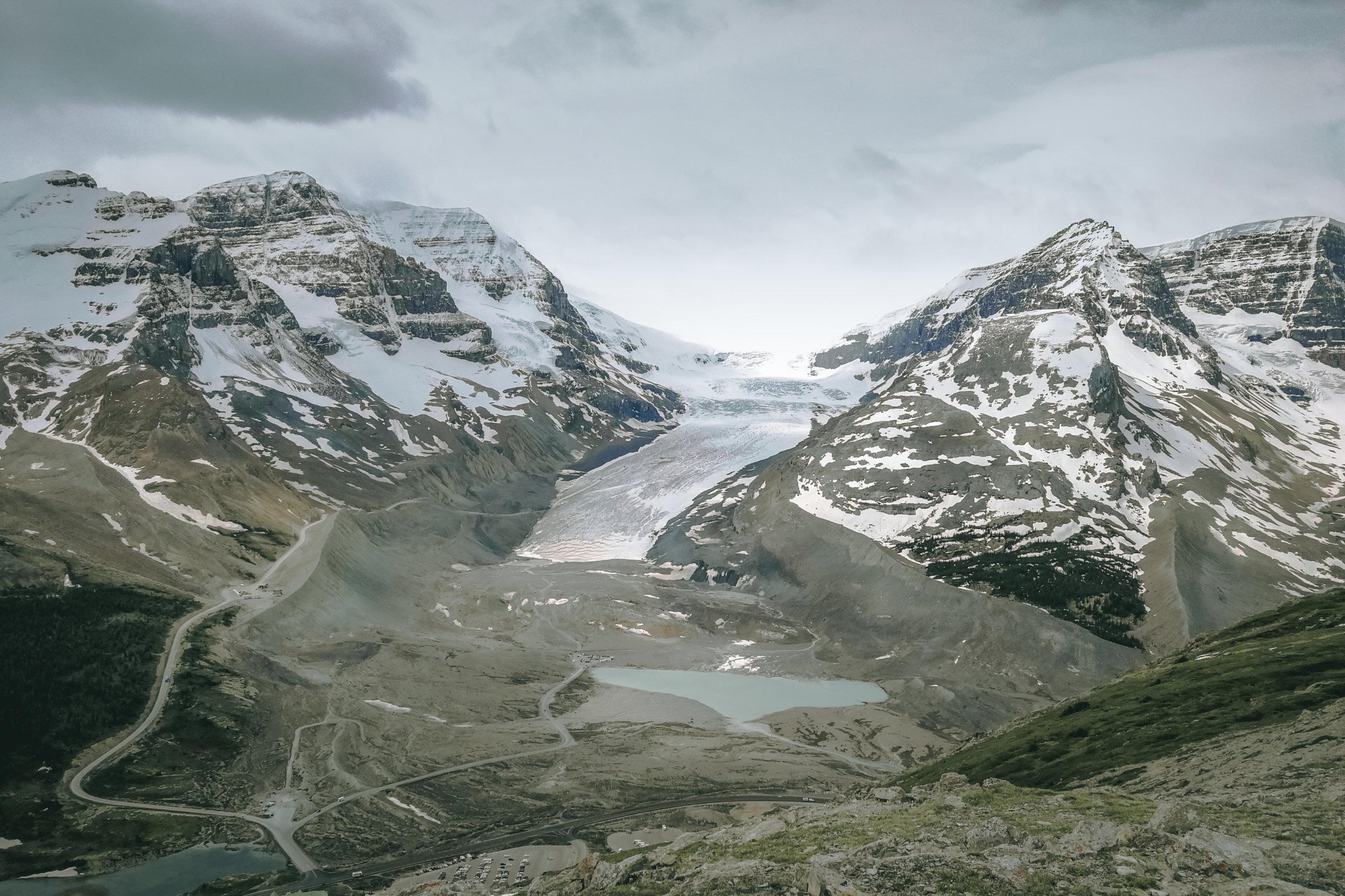 Aussicht auf den Athabasca Glacier