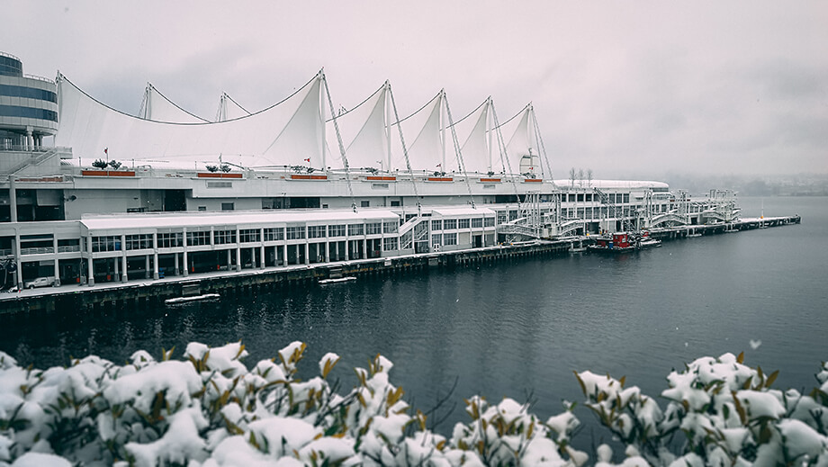 Canada Place Vancouver im Winter