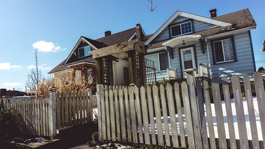 Zwei Häuser in East Vancouver