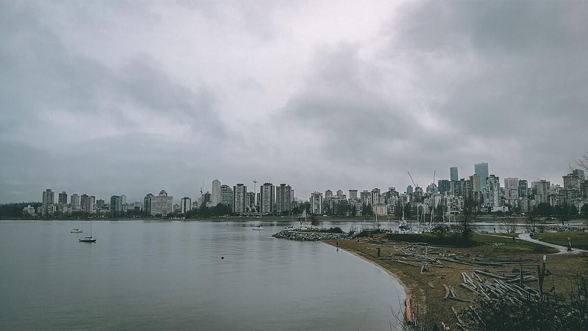 Kitsilano Beach - Blick auf Downtown Vancouver