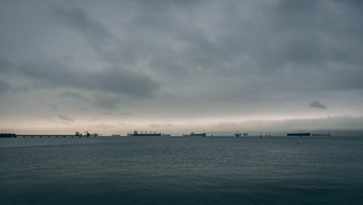 Kitsilano Beach - Schiffe am Horizont