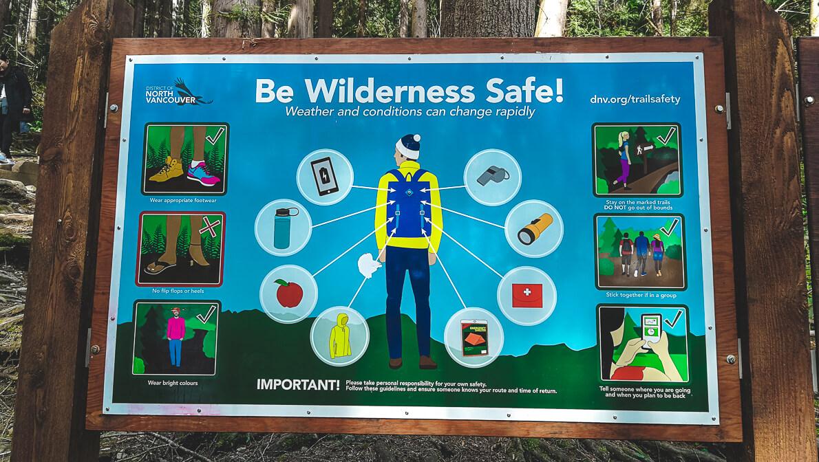 Baden Powell Trail Eingang