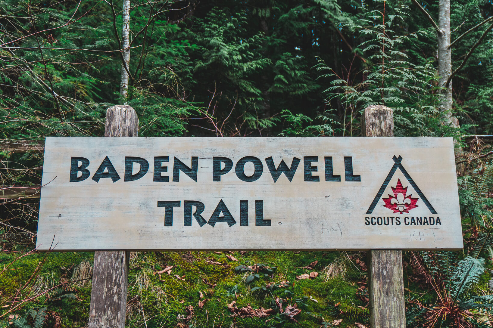 Schild Baden Powell Trail
