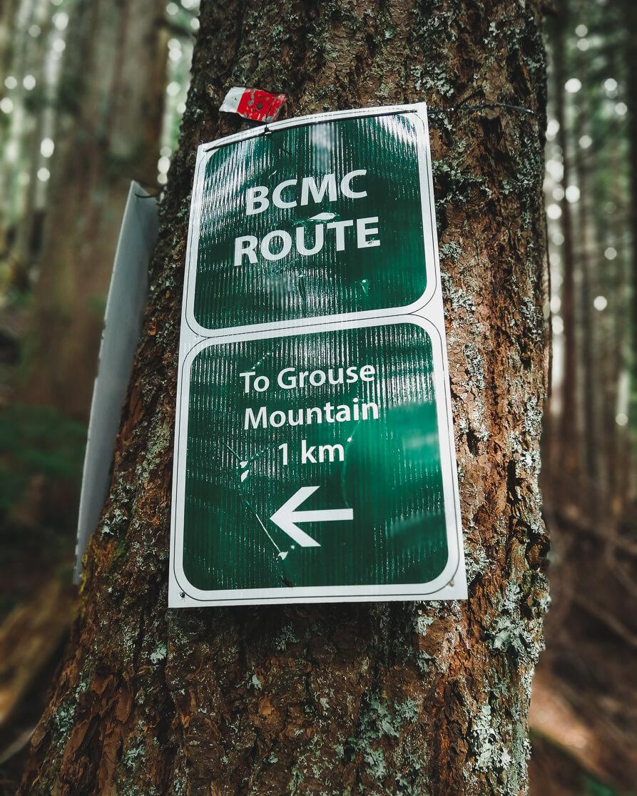 Schild BCMC Trail