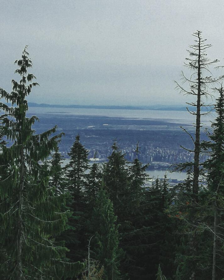 Aussicht vom Grouse Mountain