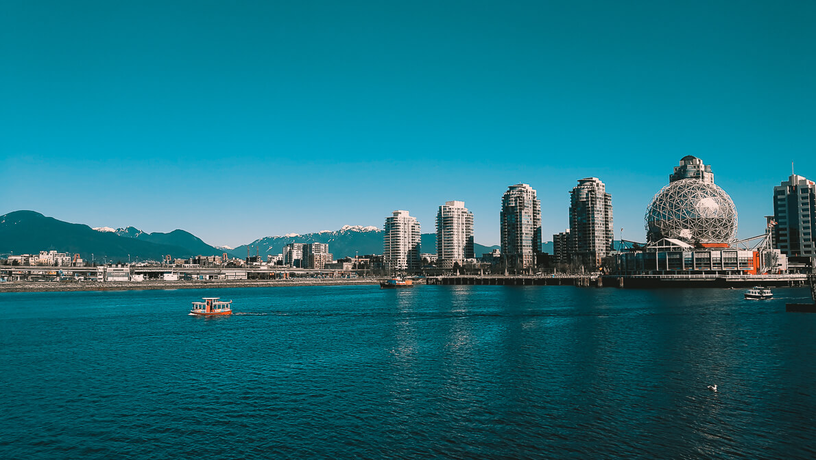 Blick auf Science world Vancouver