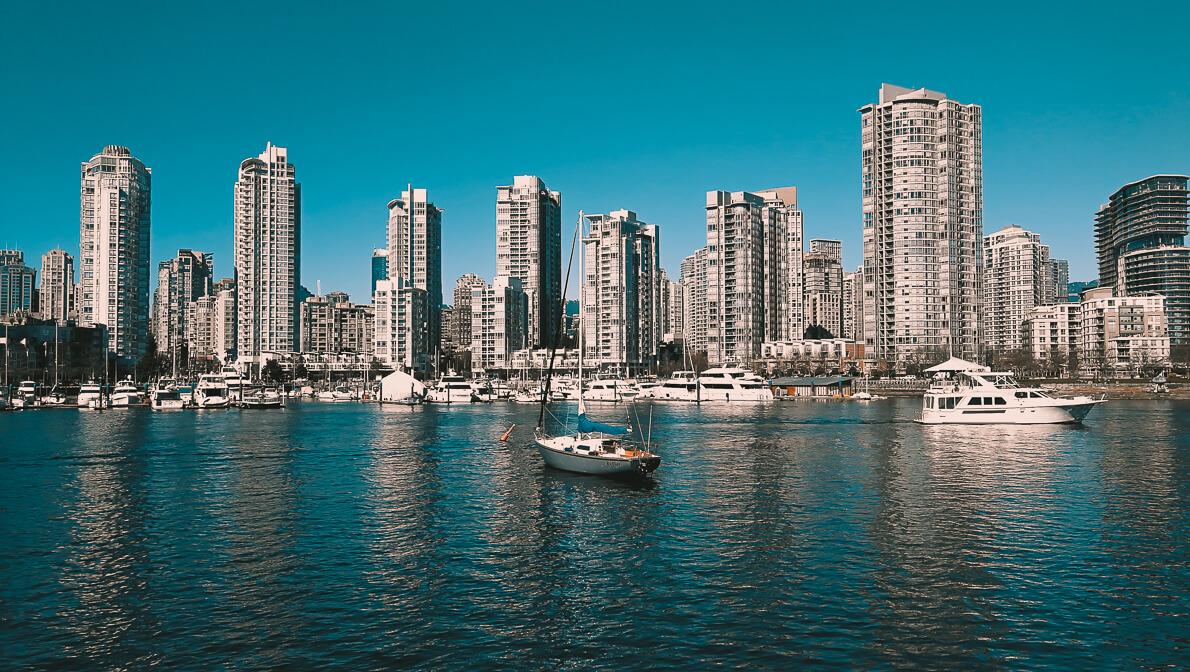 Blick auf Yaletown Vancouver