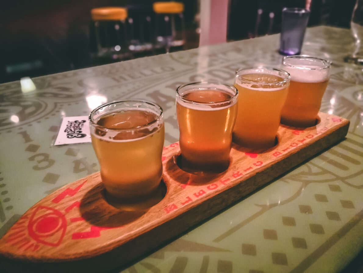 Flight in der Electric Bicycle Brewery
