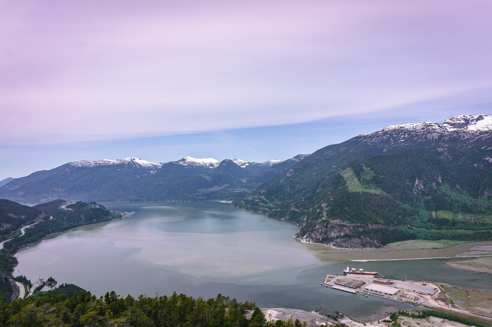 Stawamus Chief Trail - Blick auf Howe Sound
