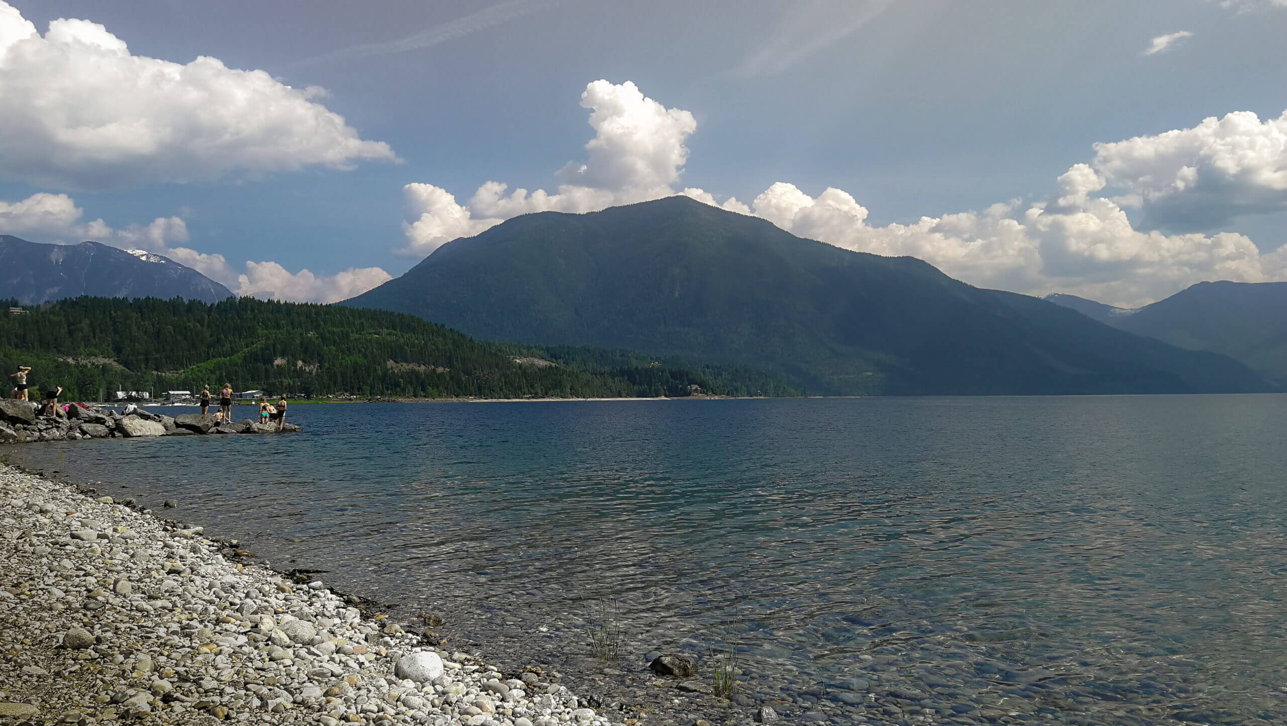 Baden in Nakusp am Arrow Lake