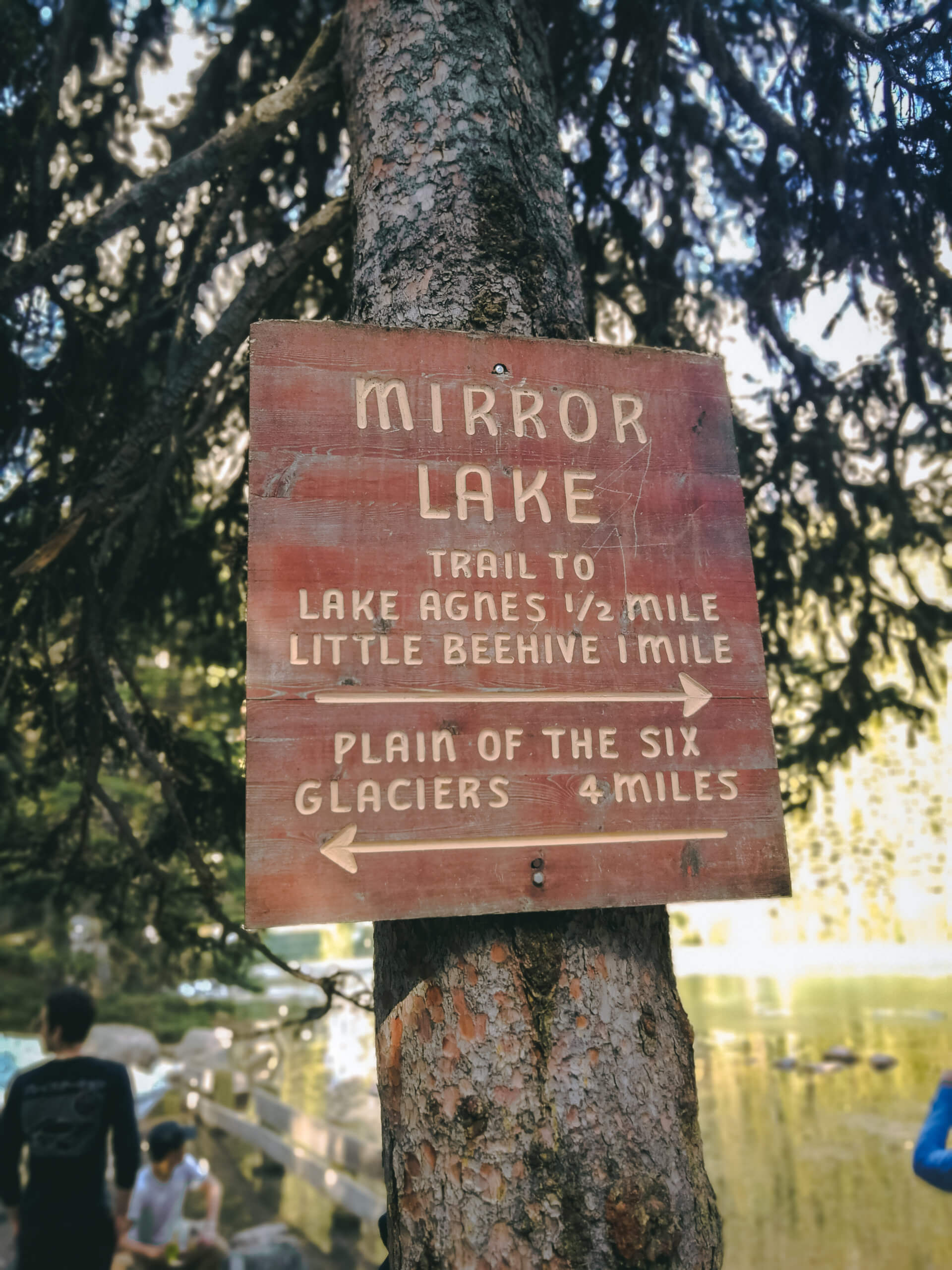 Schild am Mirror Lake