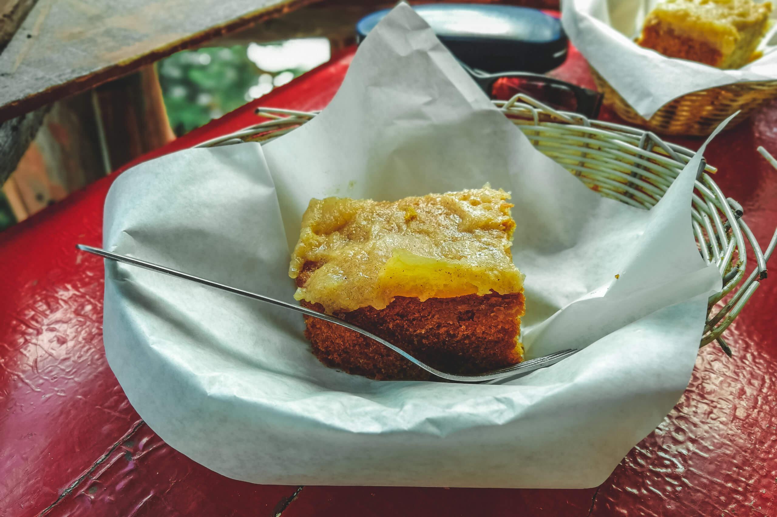 Apfelkuchen im Tea House