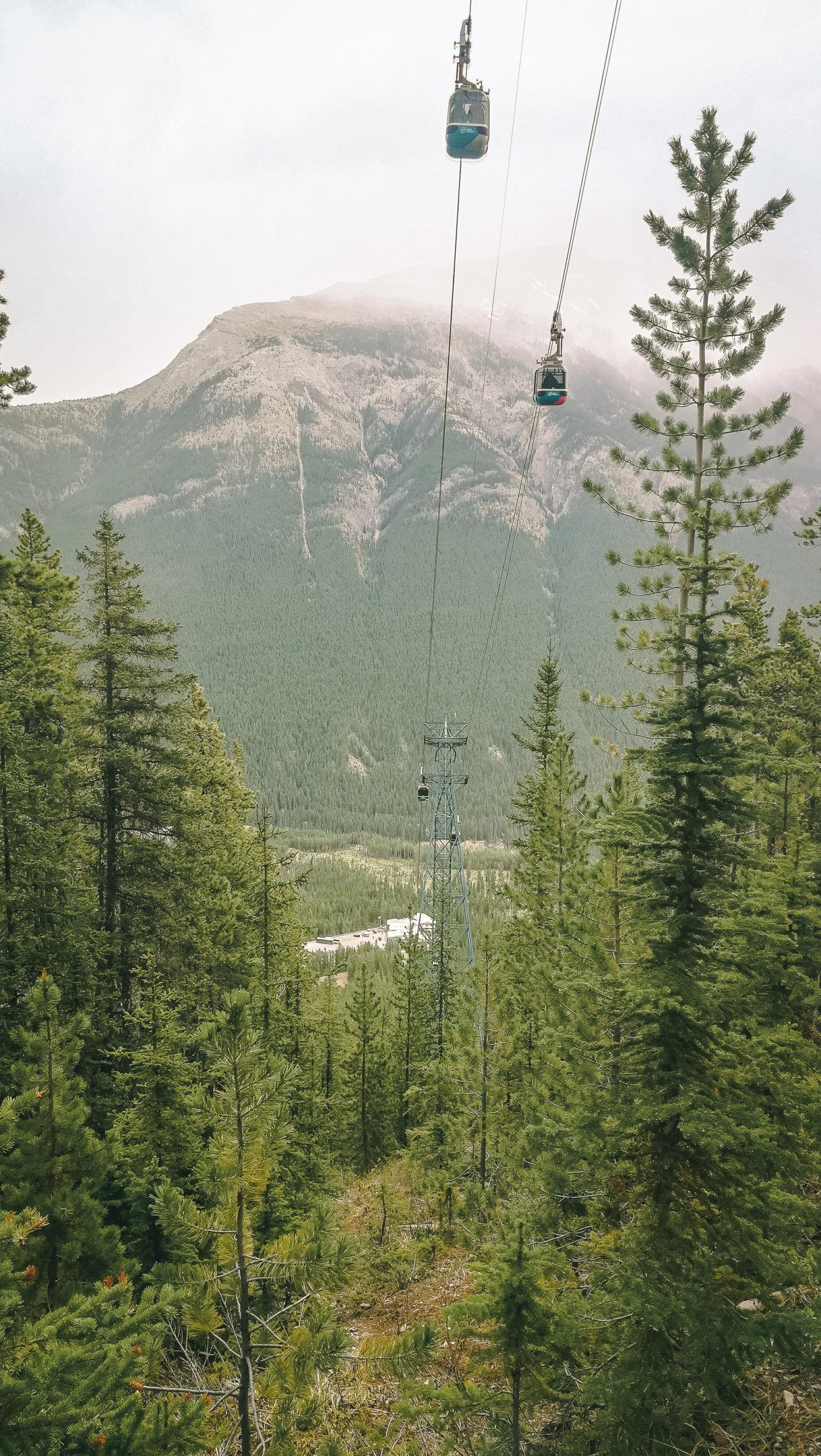 Die Gondel zum Sulphur Mountain