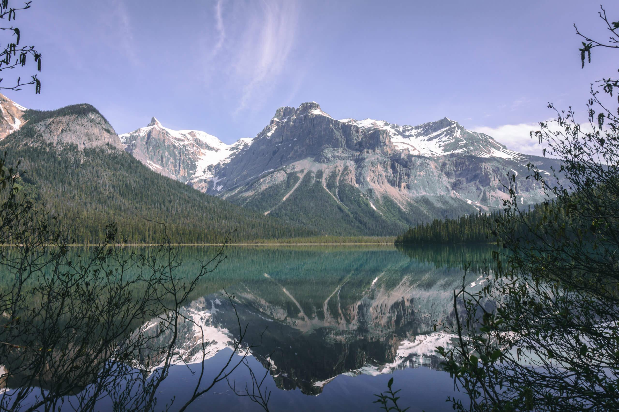 Emerald Lake und Berge