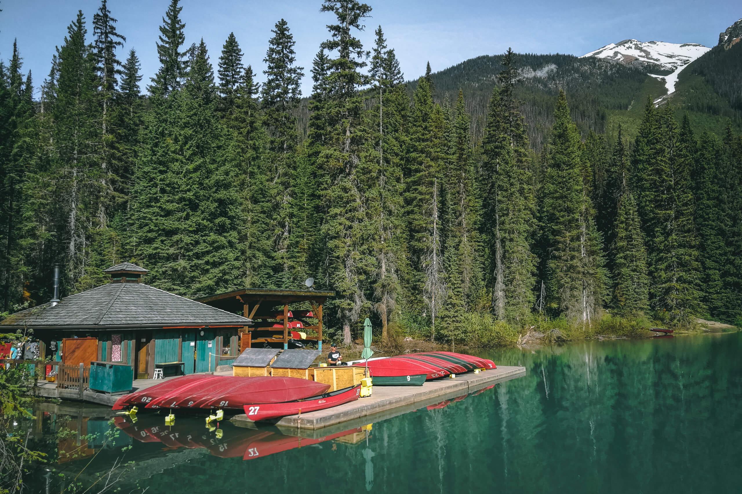 Kanu Verleih am Emerald Lake