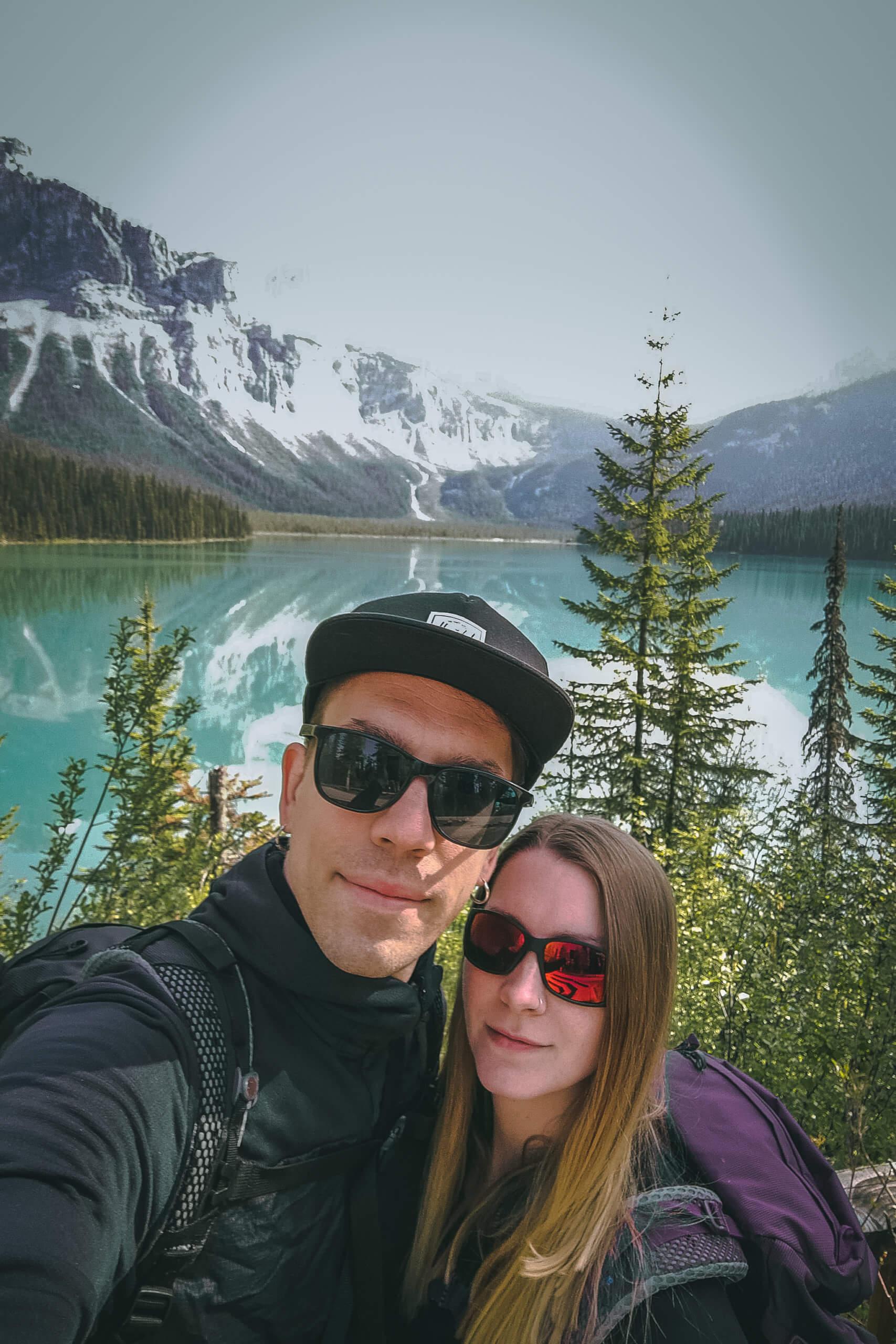 Selfie vor dem Emerald Lake