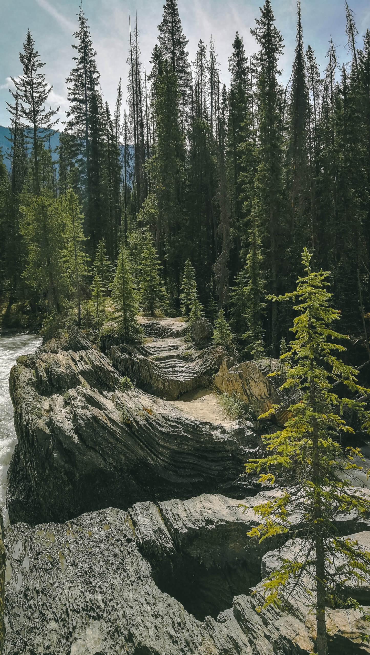 Steinformationen an der Natural Bridge