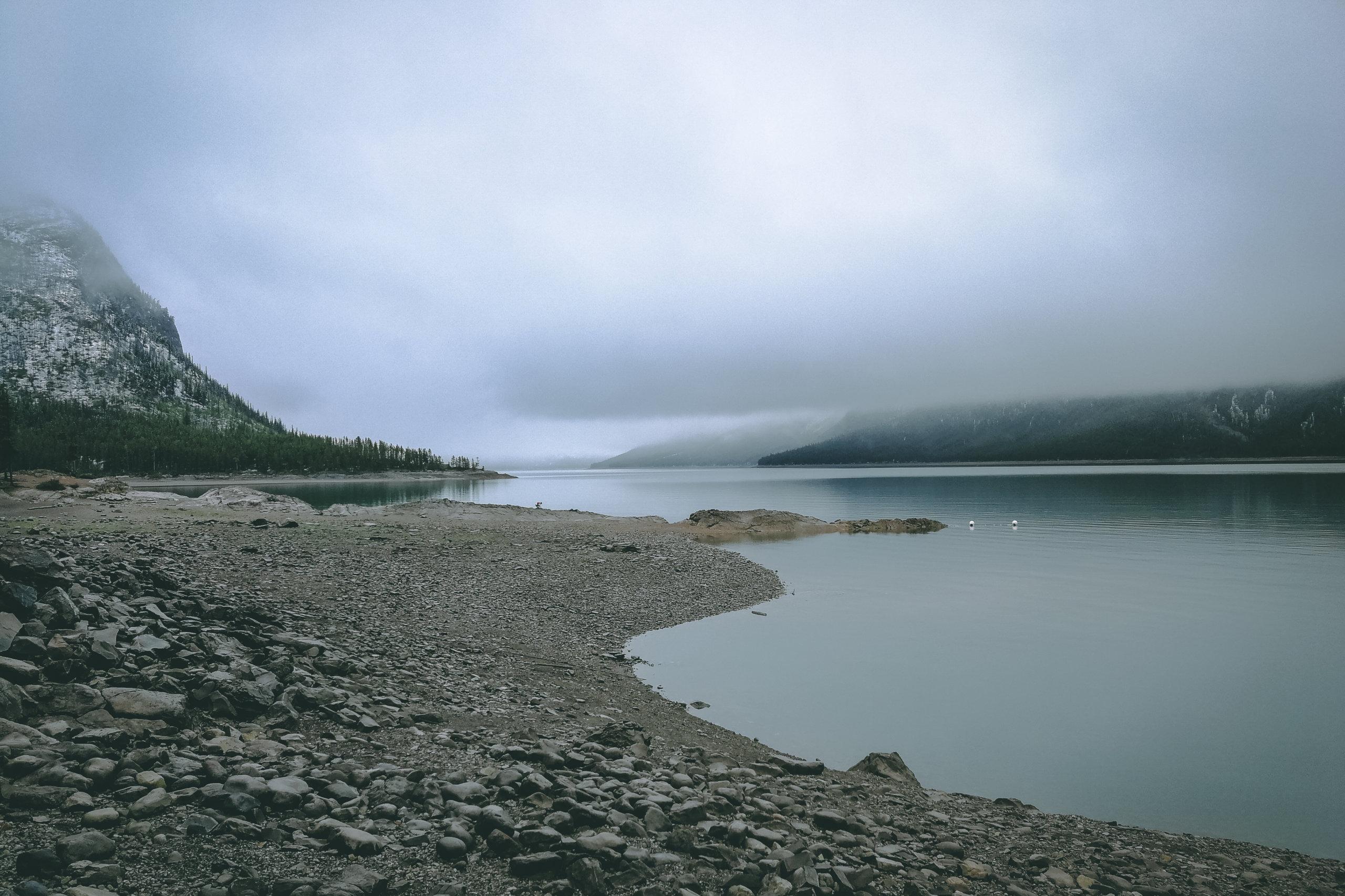 Blick auf den Lake Minnewanka