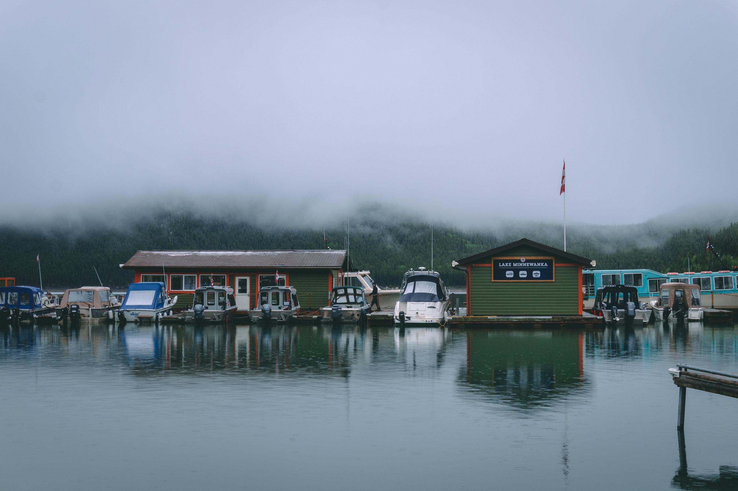 Lake Minnewanka Bootshaus