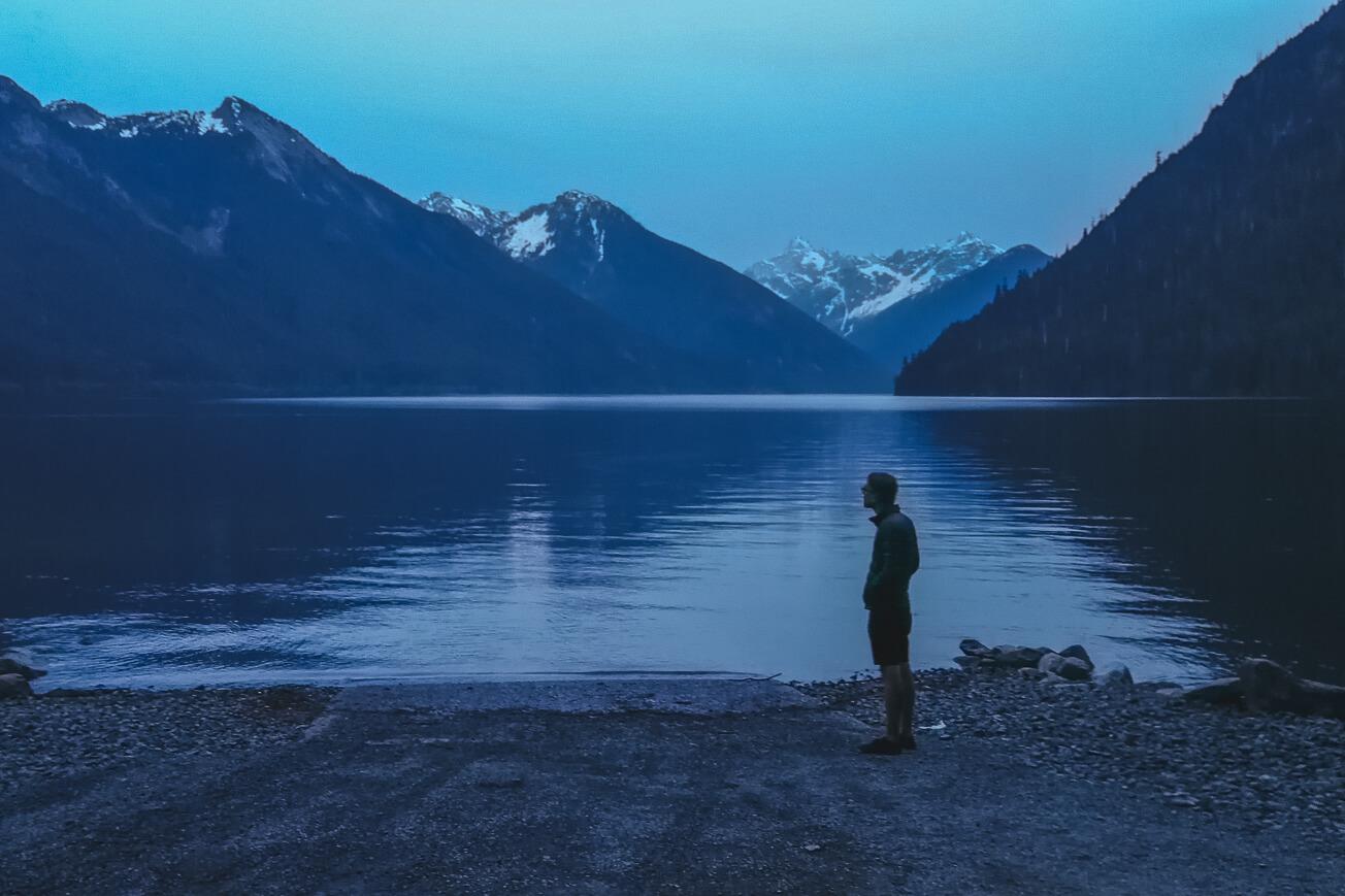 Chilliwack Lake am Abend