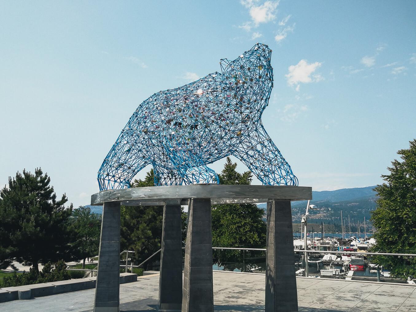 Bären Skulptur in Kelowna