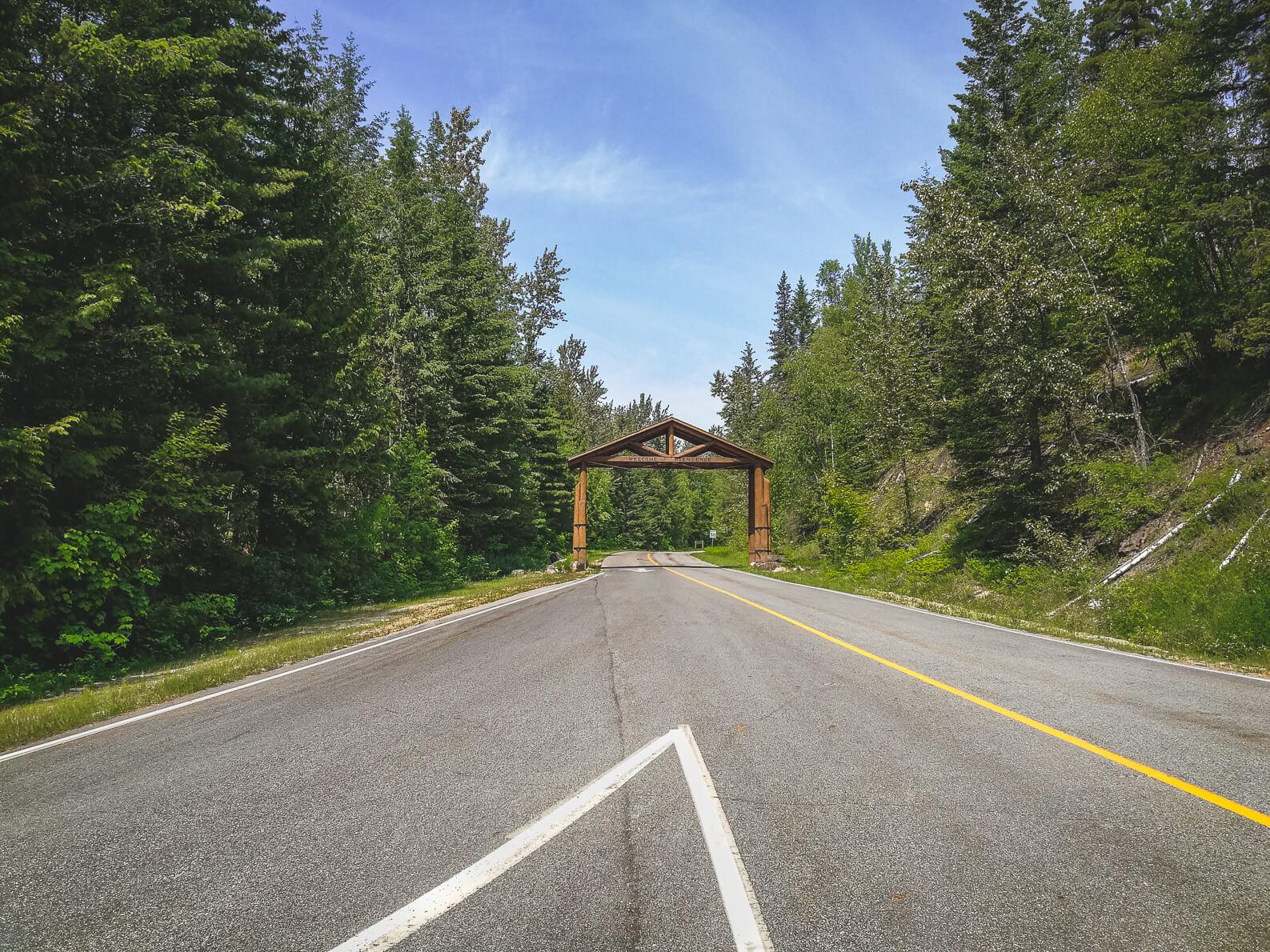 Eingang Mount Revelstoke Nationalpark